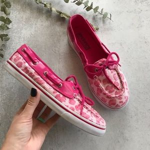 SPERRY Biscayne Pink Cheetah Sequin 6.5